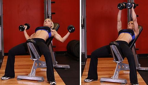Dumbbell Chest Workout Fitness Routine Life Tips Pro