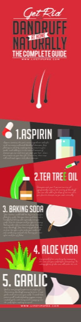 5 Best natural ways to get rid of dandruff. (Infographic)