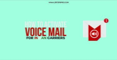 How to set a voicemail