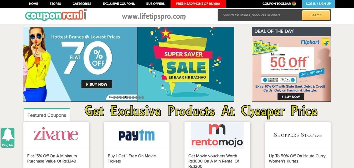Coupons sites