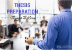 thesis statement explanation and preparation